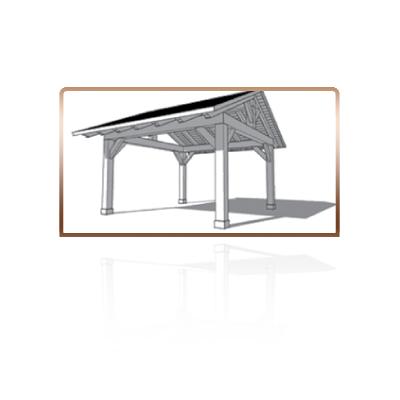 Pergola con techo a 2 aguas